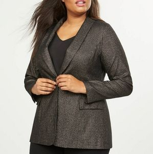 NWT Lane Bryant 28 Single Button Sparkle Blazer
